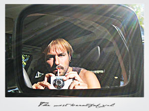 Autorretrato, durante un viaje a Sudáfrica.